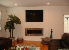 New Fireplace and TV Addition
