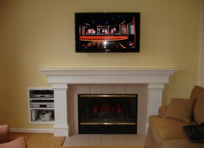 Fireplace and In-wall TV