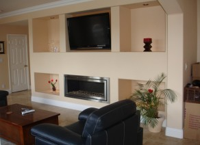 Family Room and Tile Flooring